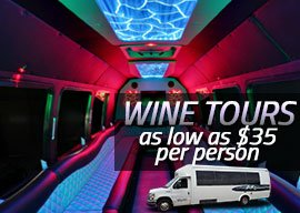 Wine Tour Packages as low as $35 per person