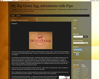 My Big Green Egg Adventures with Pips