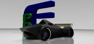 3d Printed Car CAD Rendering