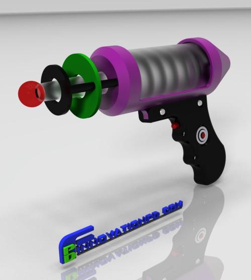 Custom 3D Printing Toy Gun