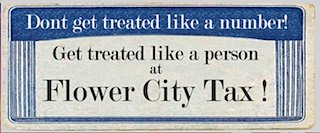 get treated like a person at flower city tax!