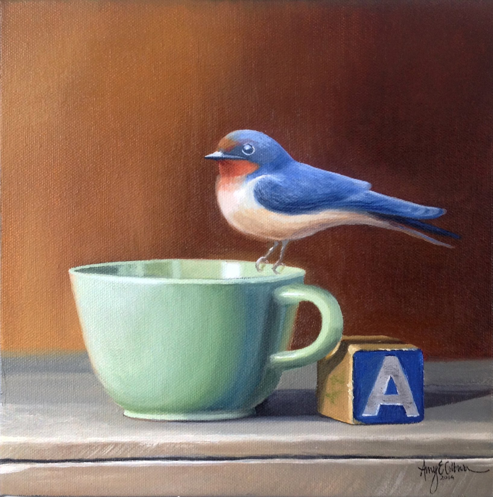 """A, Bird, Cup"" - SOLD"