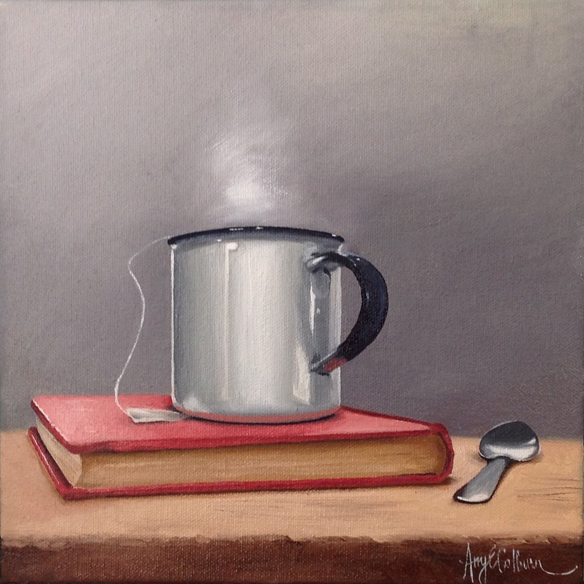 """Red book, Spoon, Tea"""