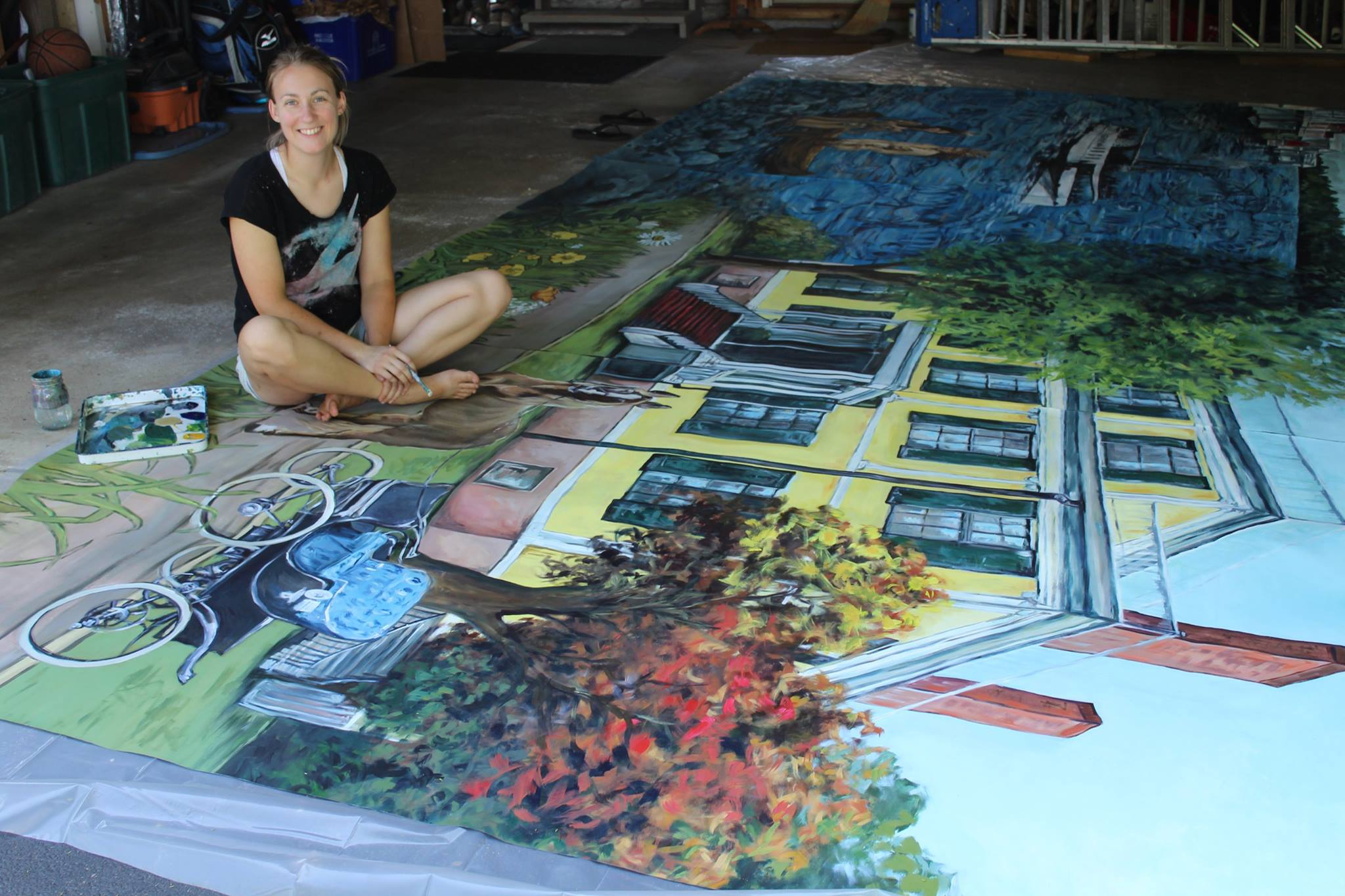 Canandaigua's Commons Park Mural: Highlighting Artist Chloe Smith