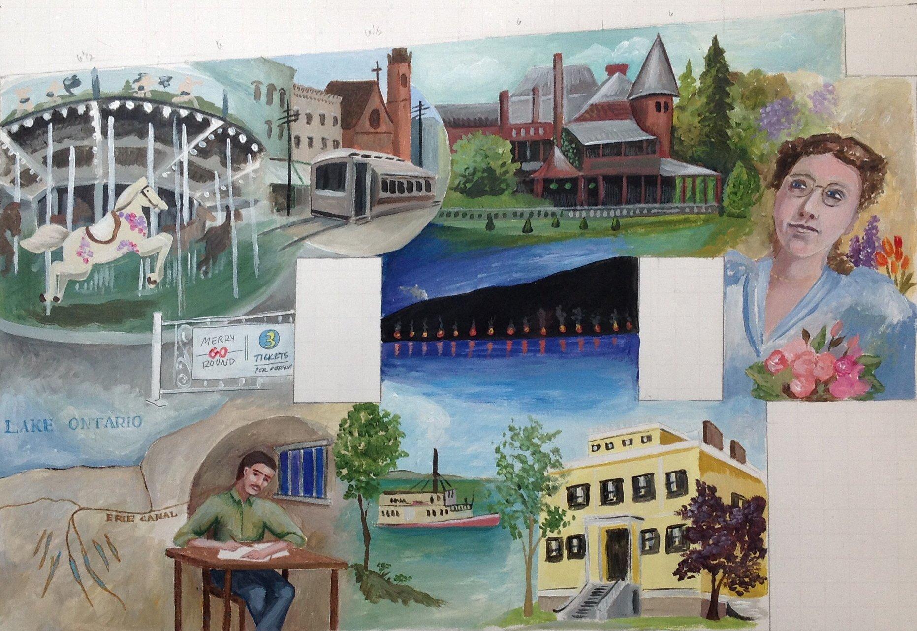 colburn mural canandaigua coach street
