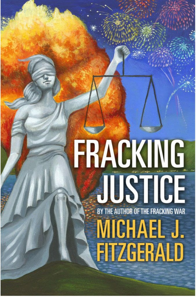 "Illustrated Book Cover ""Fracking Justice"" ~ Launch Party June 2, 2015"