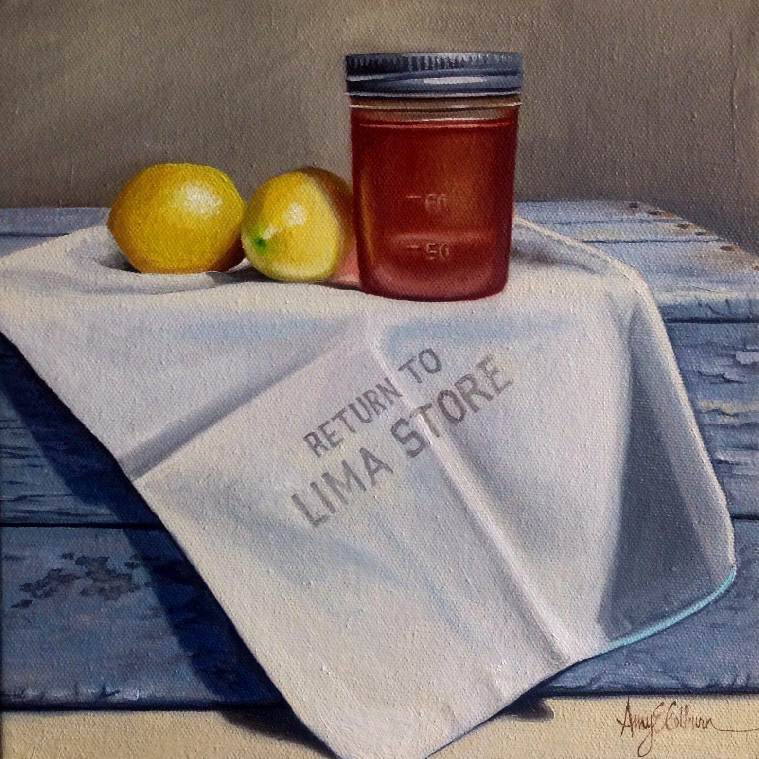 """Fruit, Grocery bag, Honey"""