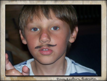 son with mustache