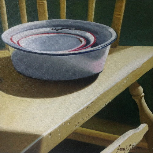 """Deacon's Bench, Enamelware"" - SOLD"