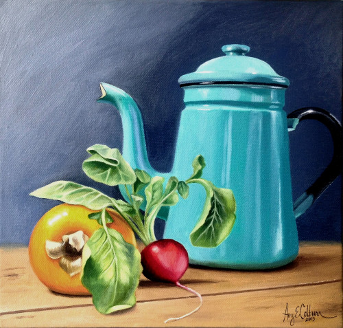 """Pitcher, Quince, Radish"" - SOLD"