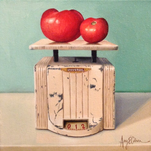 """Tomatoes, Universal scale"" - SOLD"