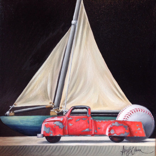 """Rubber ball, Sailboat, Truck"""