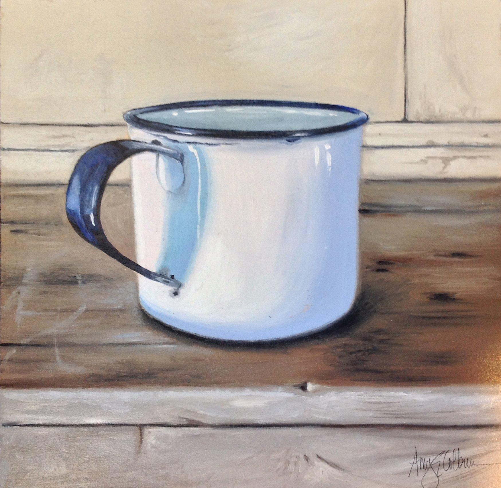 """""""White Enamel Cup"""""""