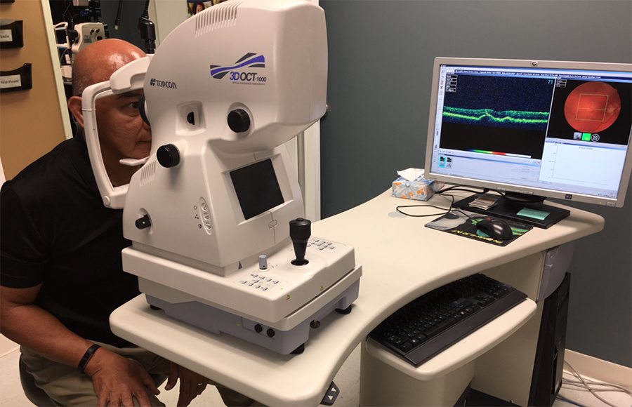 Optical Coherence Tomography Treatment for Macular Degeneration