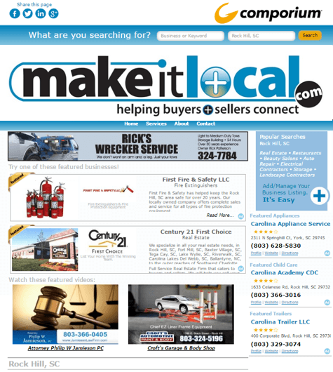 MakeItLocal.com Market Home Page