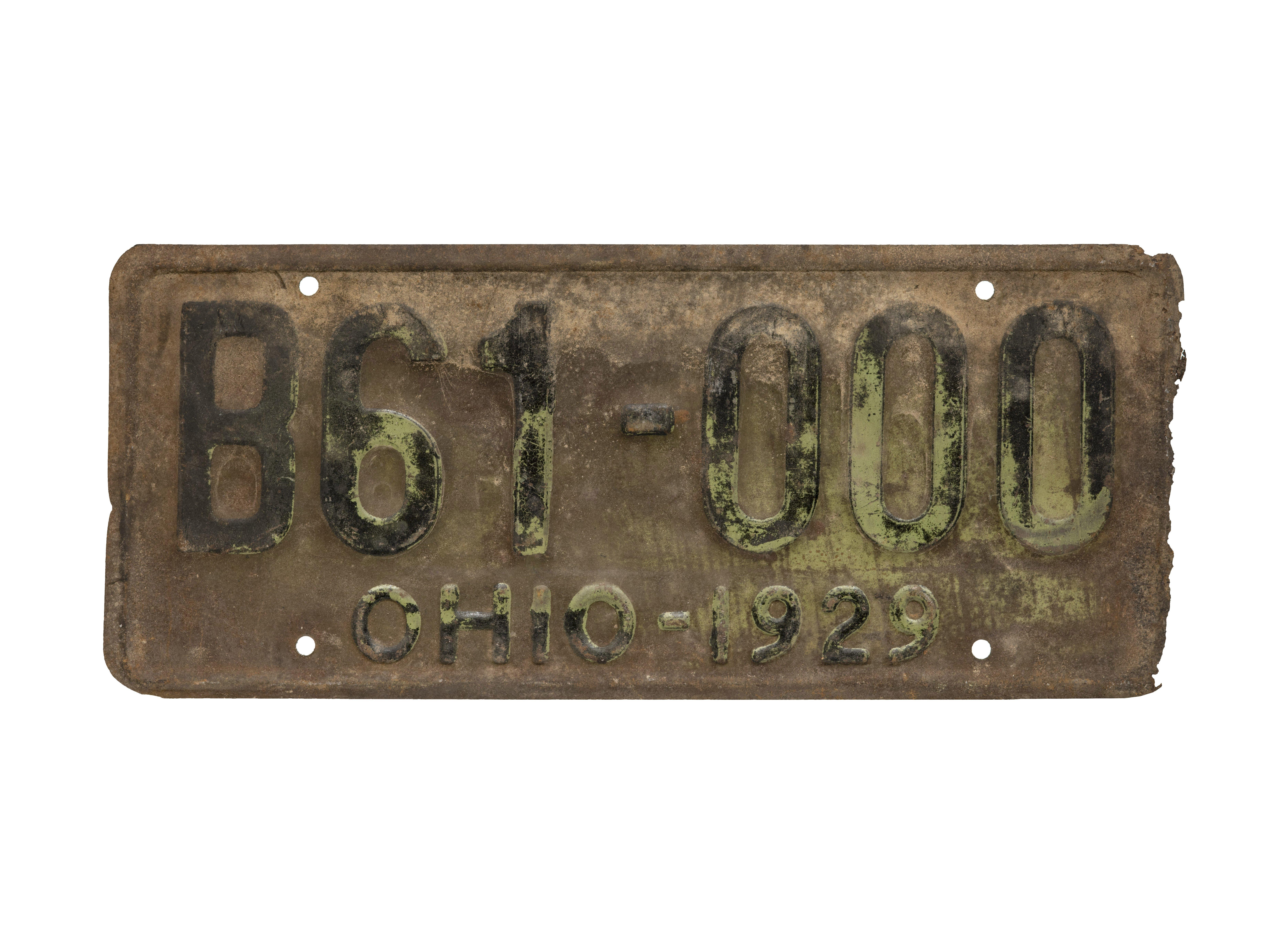 vintage Ohio license plate