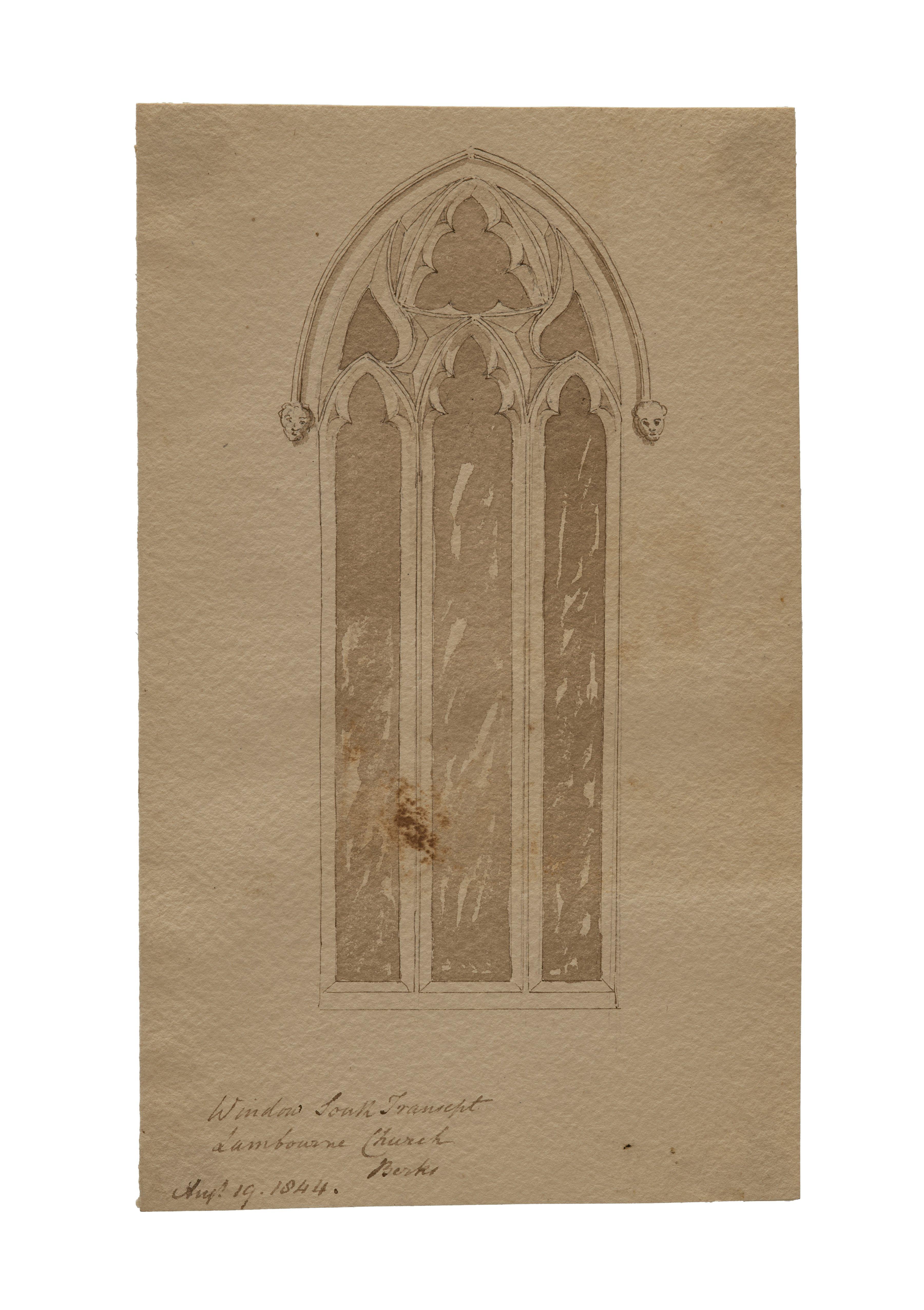 antique British drawing