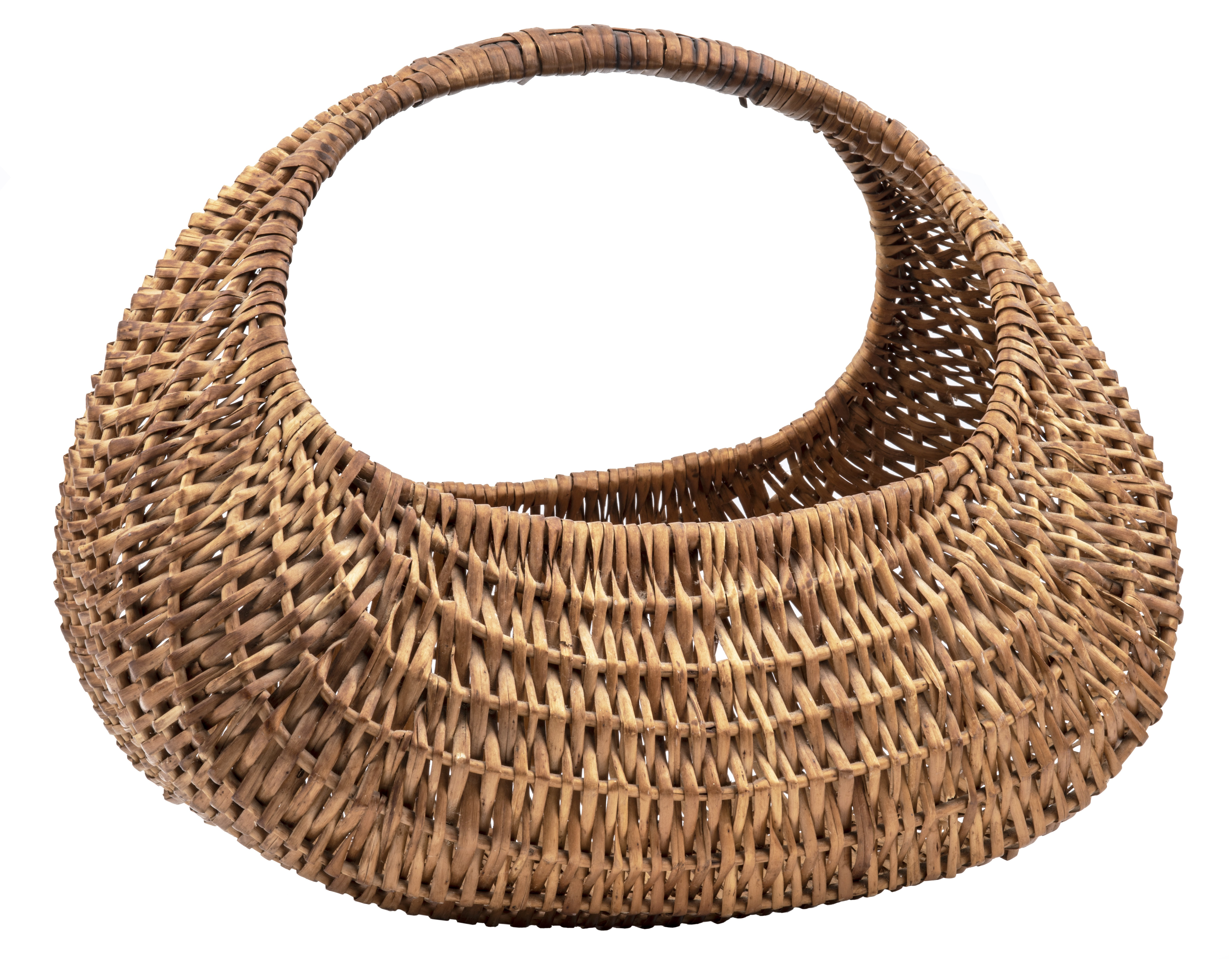 An Antique American Primitive Reed Basket