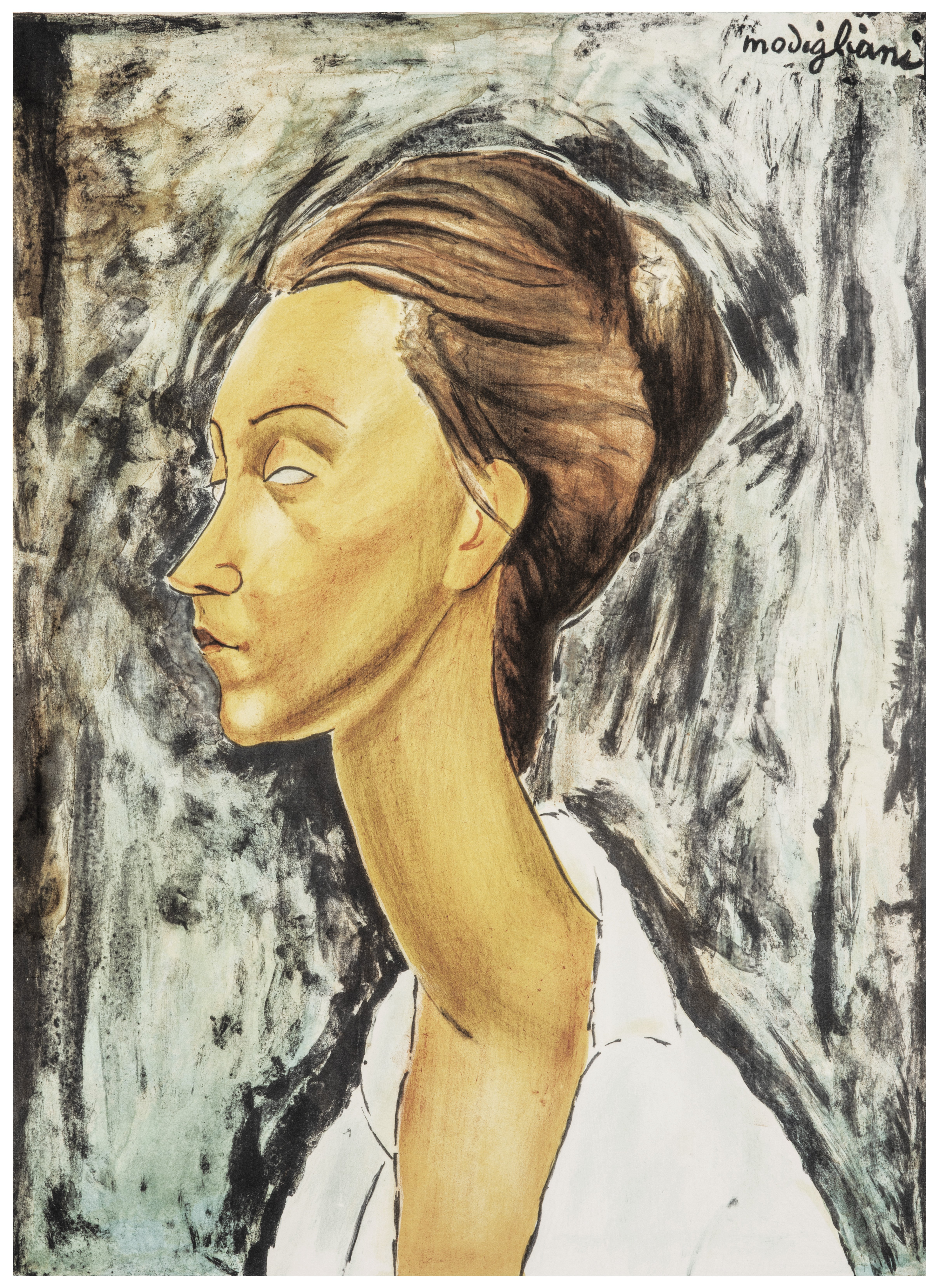 A Vintage Numbered Portrait Lithograph By Amedeo Modigliani