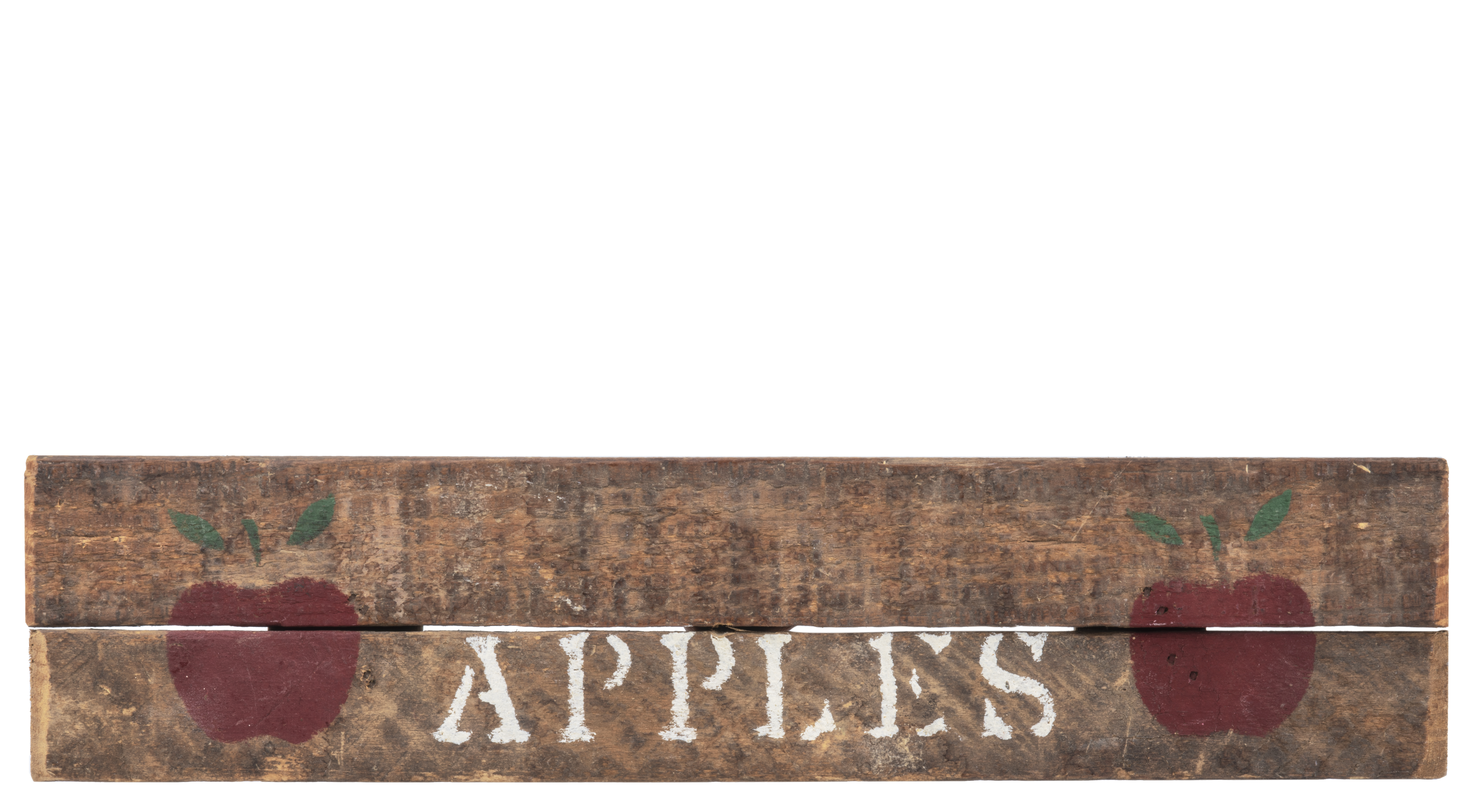 A Vintage Hand Painted American Apple Sign