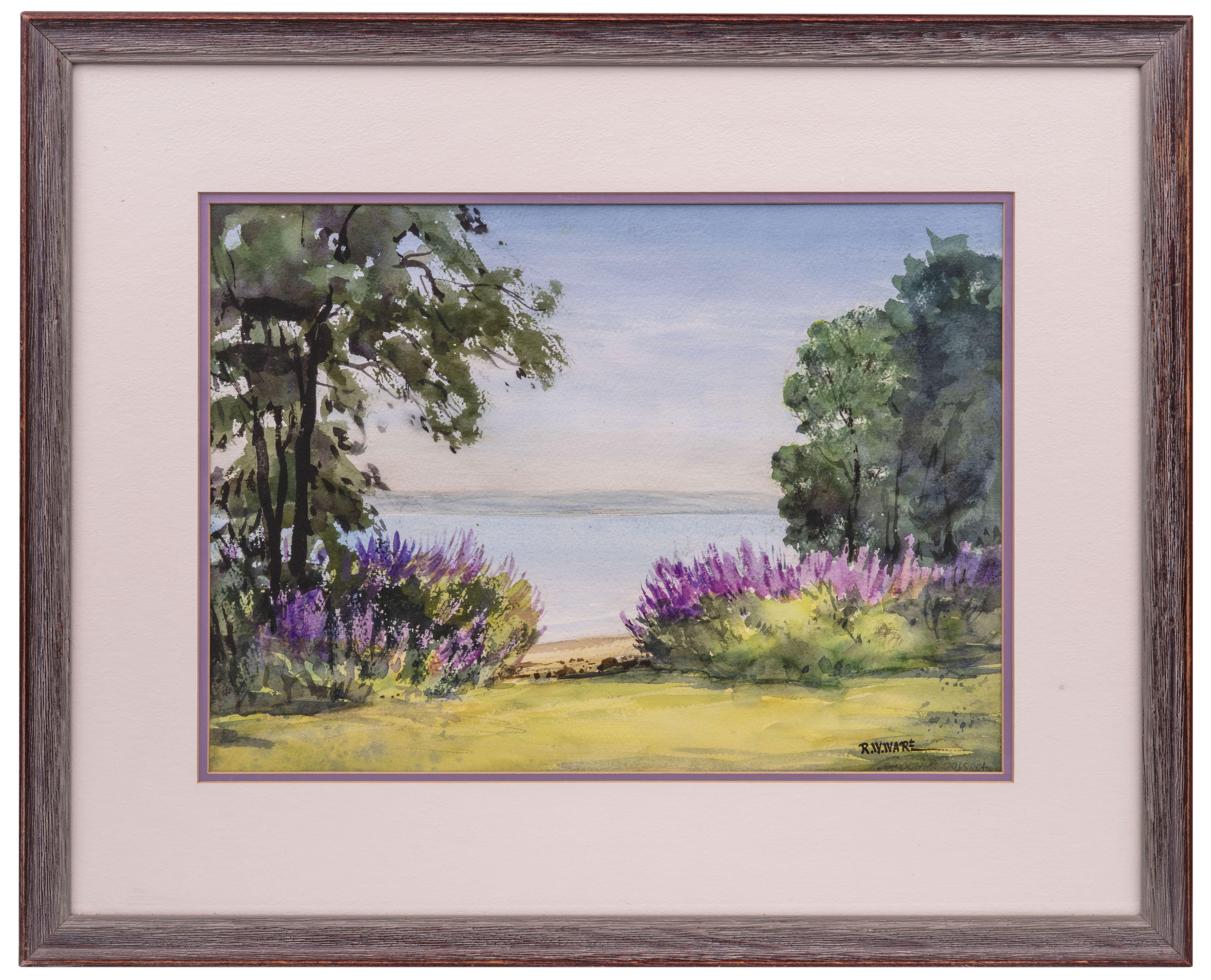 """An Original R.W. Ware Watercolor """"Seneca Lake"""""""