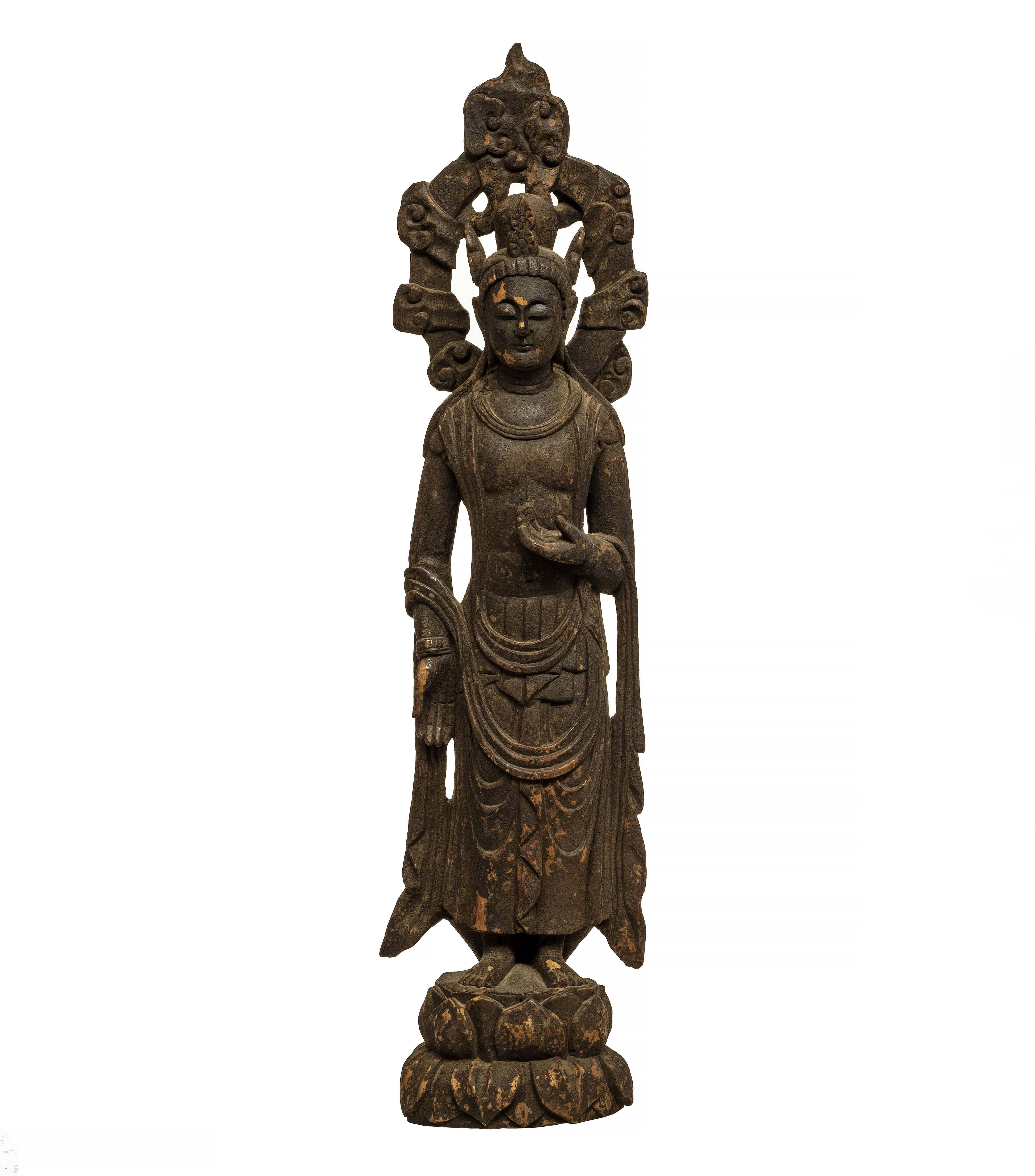 A Large Chinese Wood Carving of Guanyin