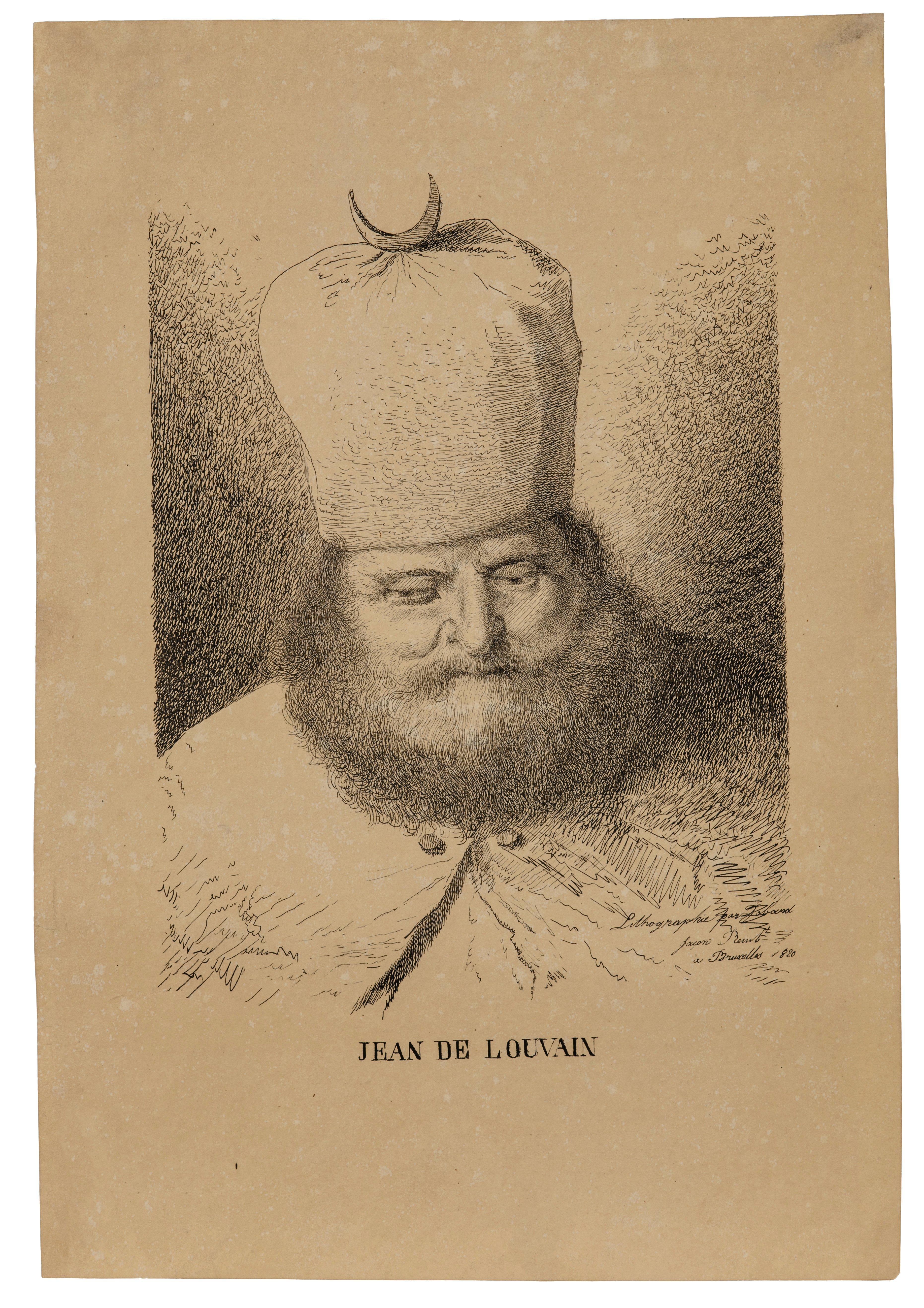 A 19th Century Lithograph Jean De Louvain Dated 1820