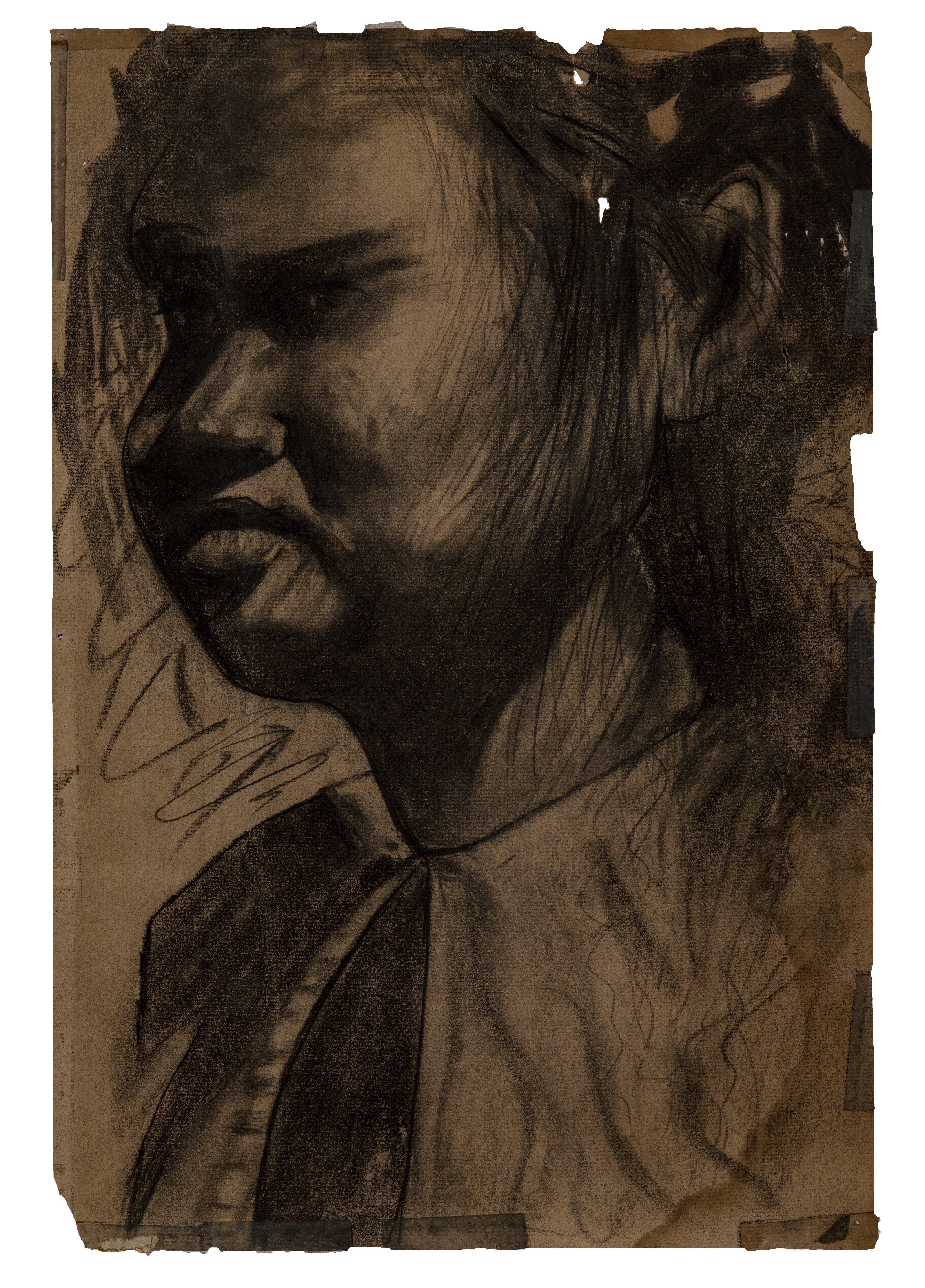"A Vintage Outsider Art Portrait ""Han"""