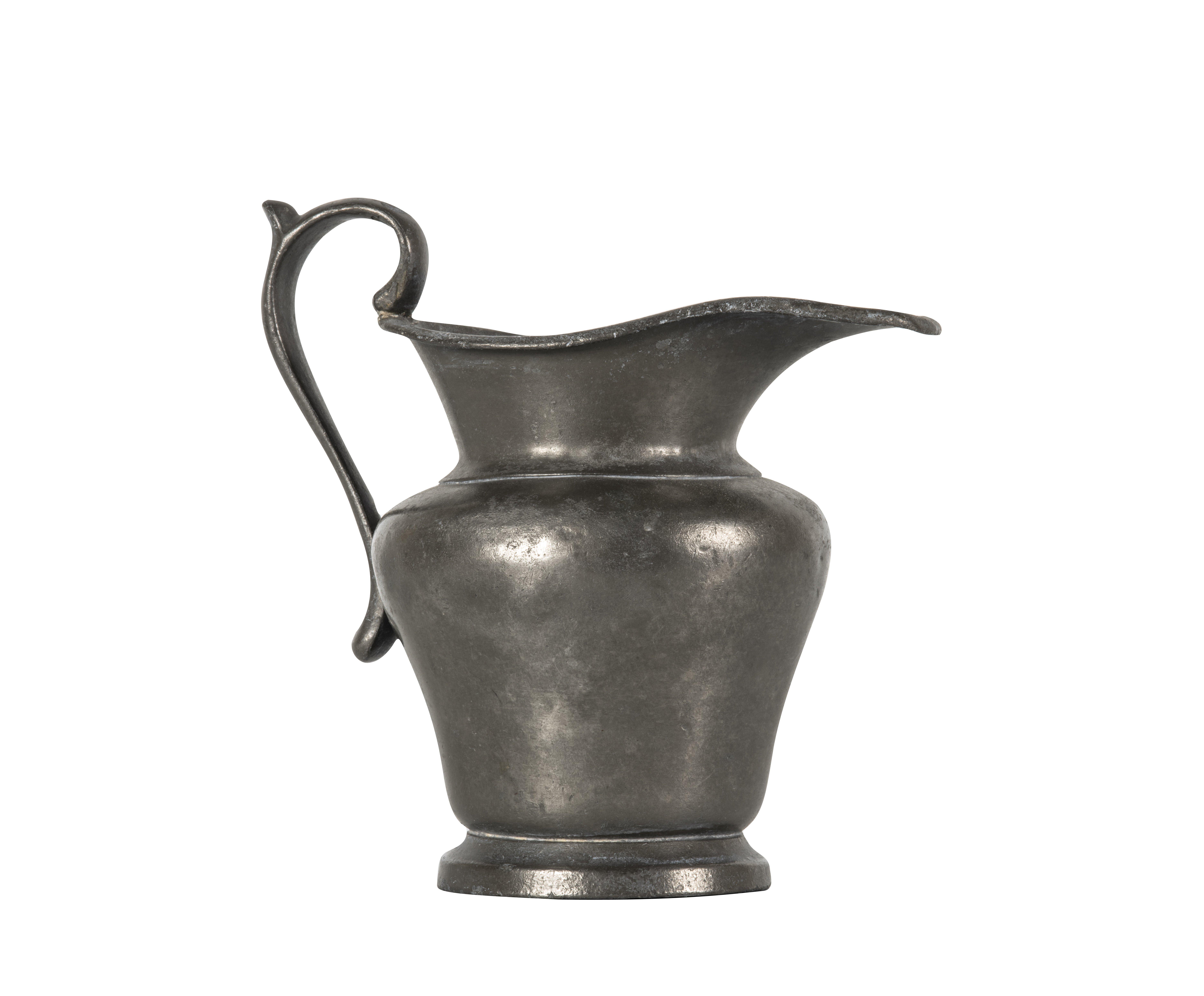 An Antique Pewter James Dixon Creamer 1447
