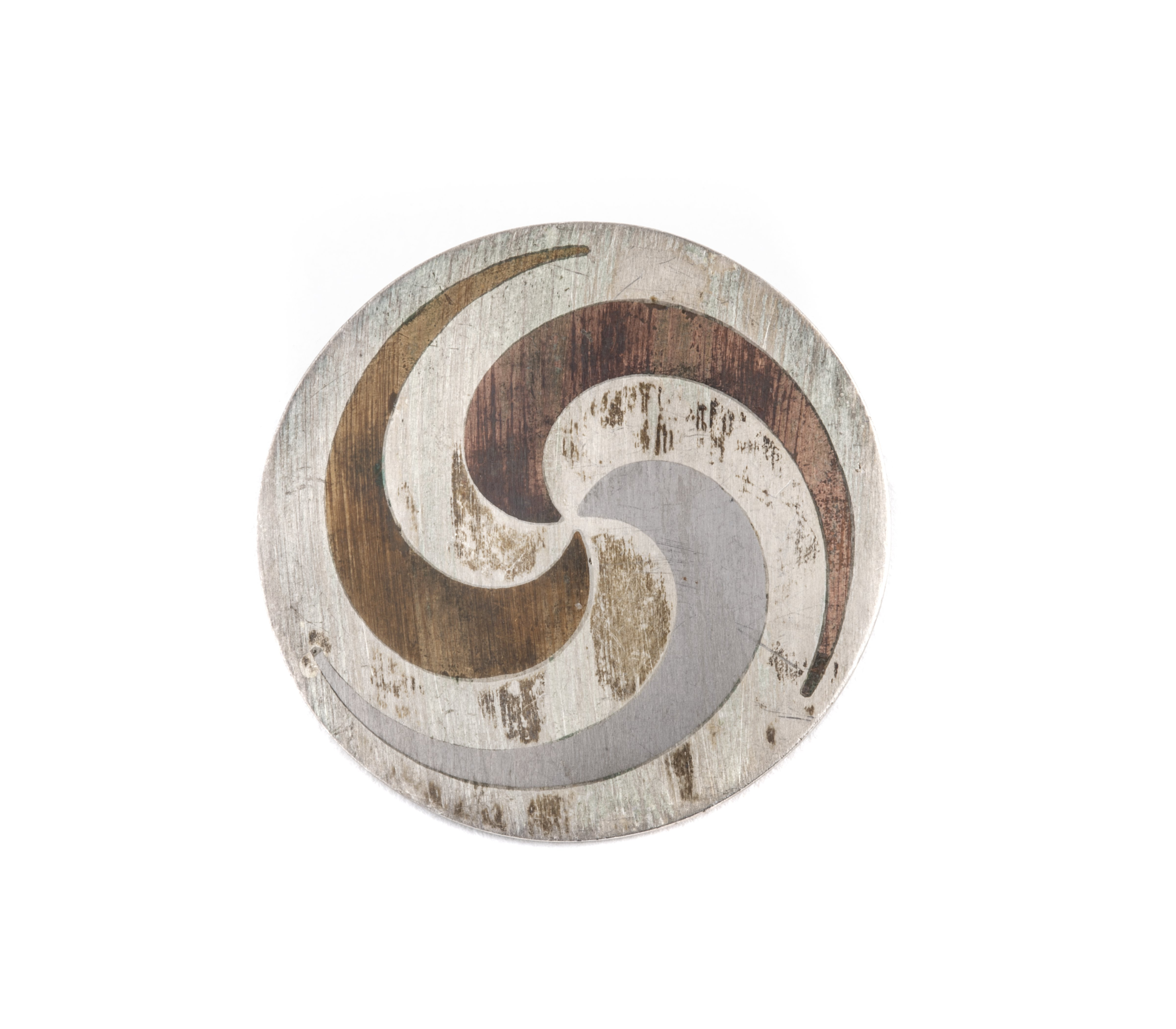 Vintage Sterling Silver  Pendant Pin Mexican Vintage Modernist 2