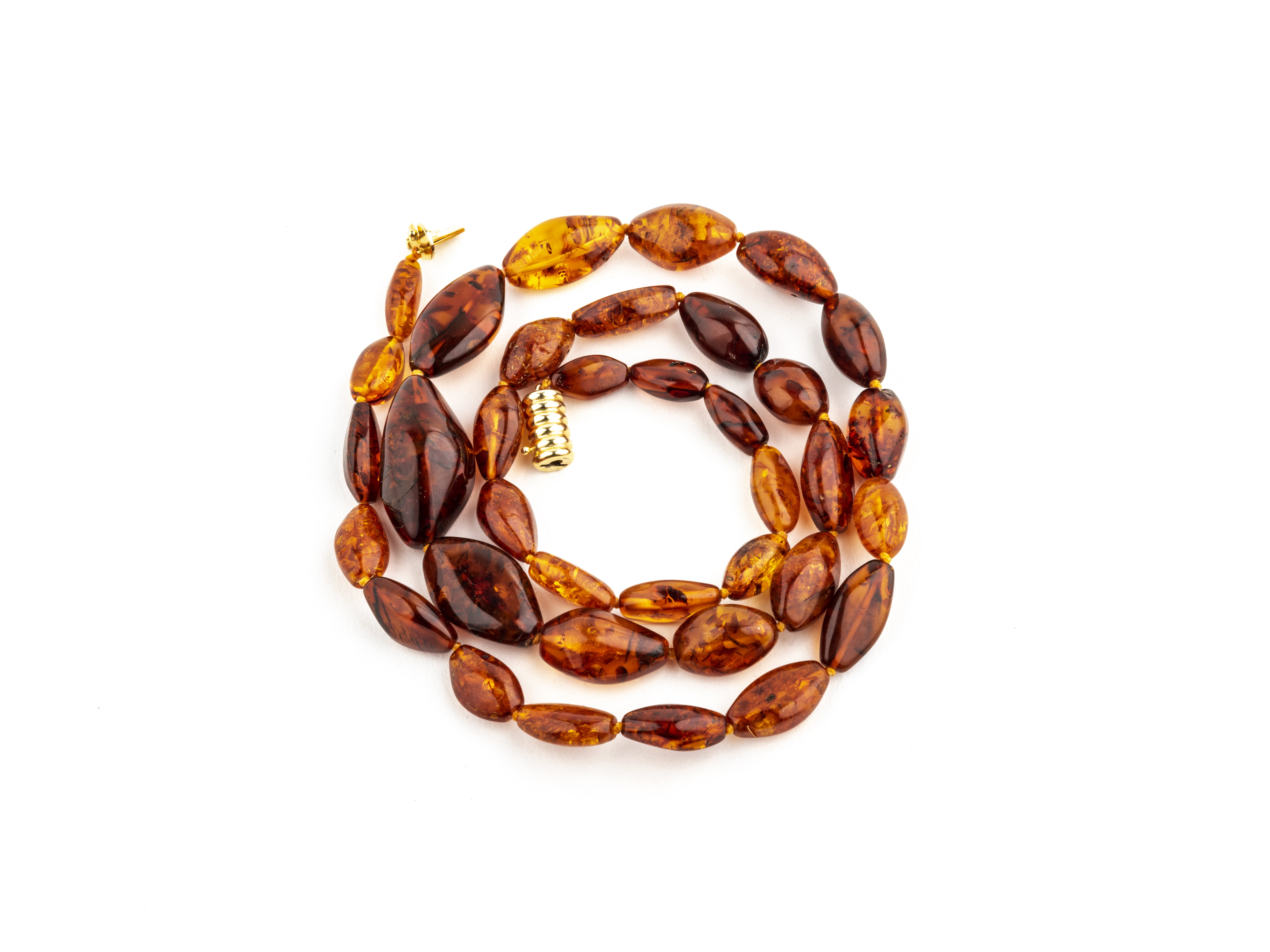 Amber Jewelry Necklace Vintage Bead Form 1