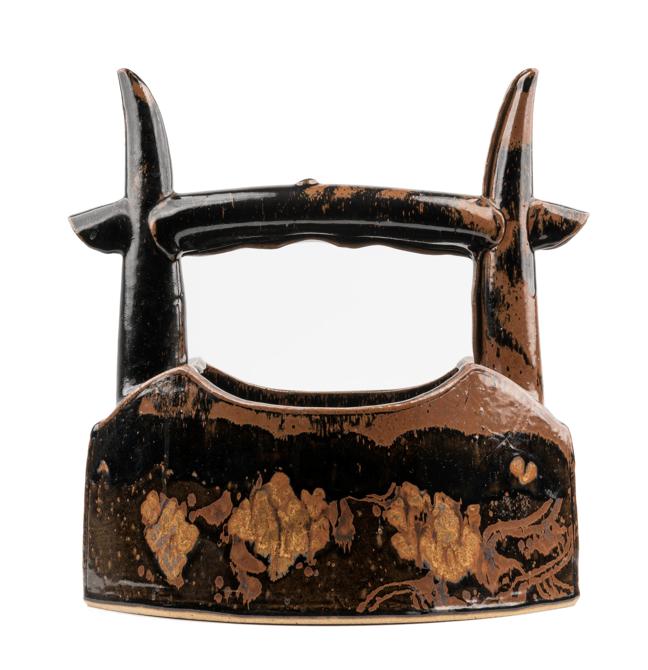 Japanese pottery basket