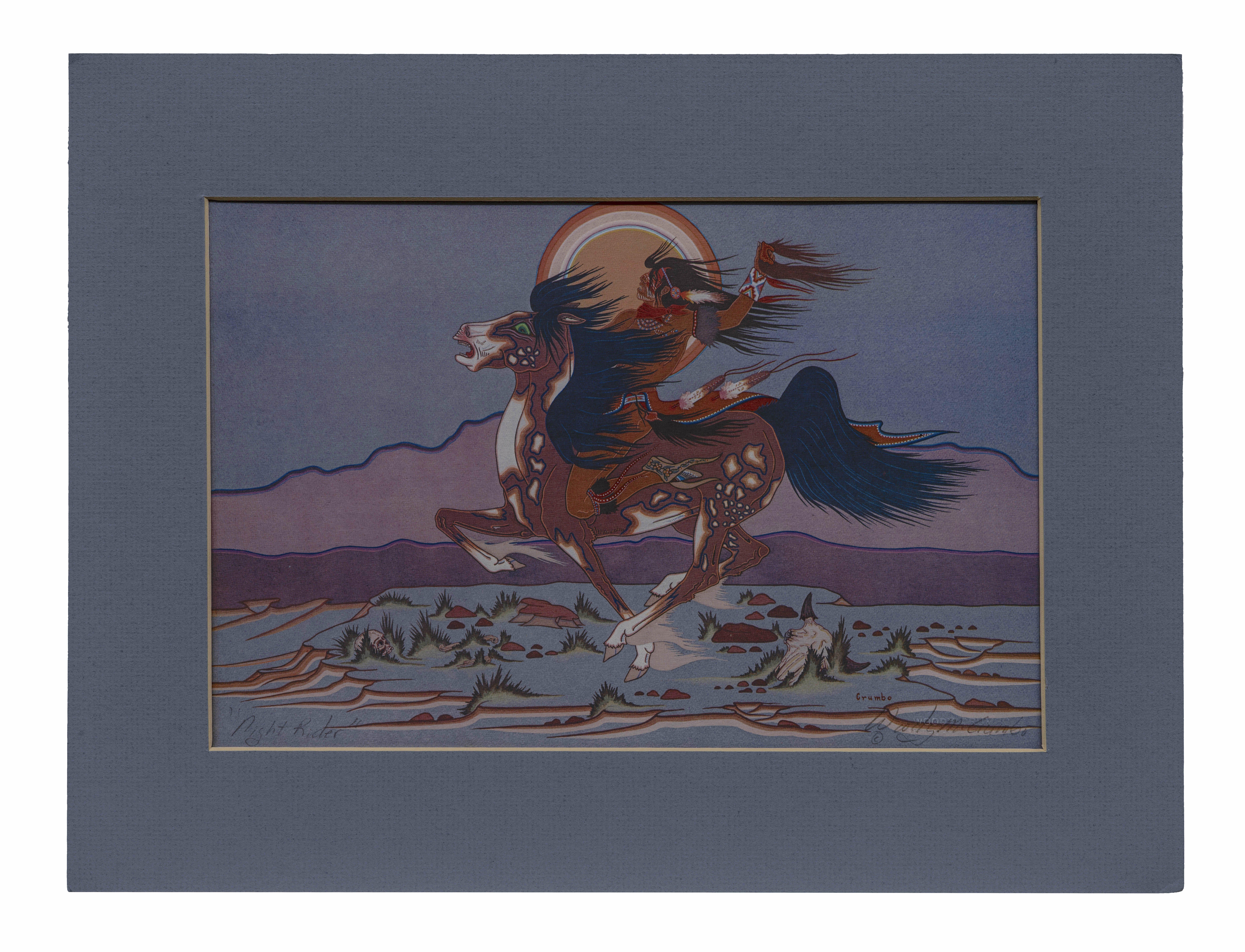 Woody Crumbo night rider print
