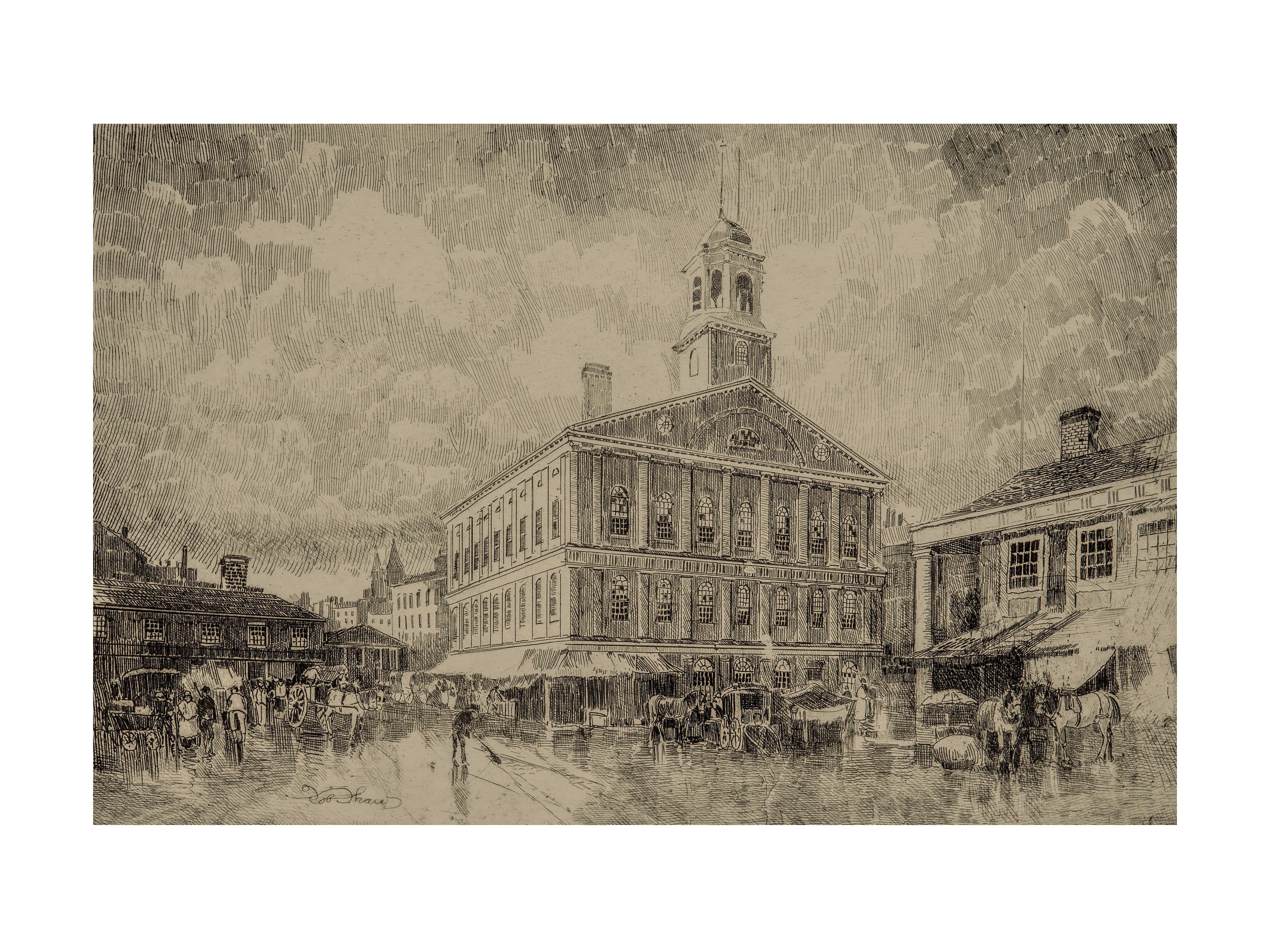 Robert Shaw Faneuil Hall Boston historical wall art print