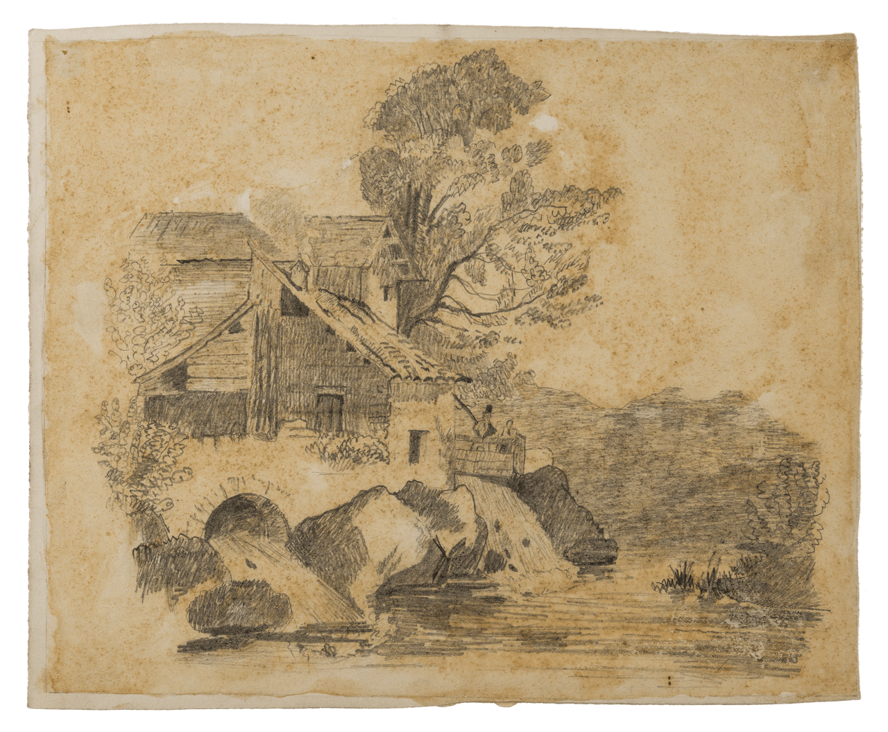 A 19th Century English Pencil Landscape Sketch
