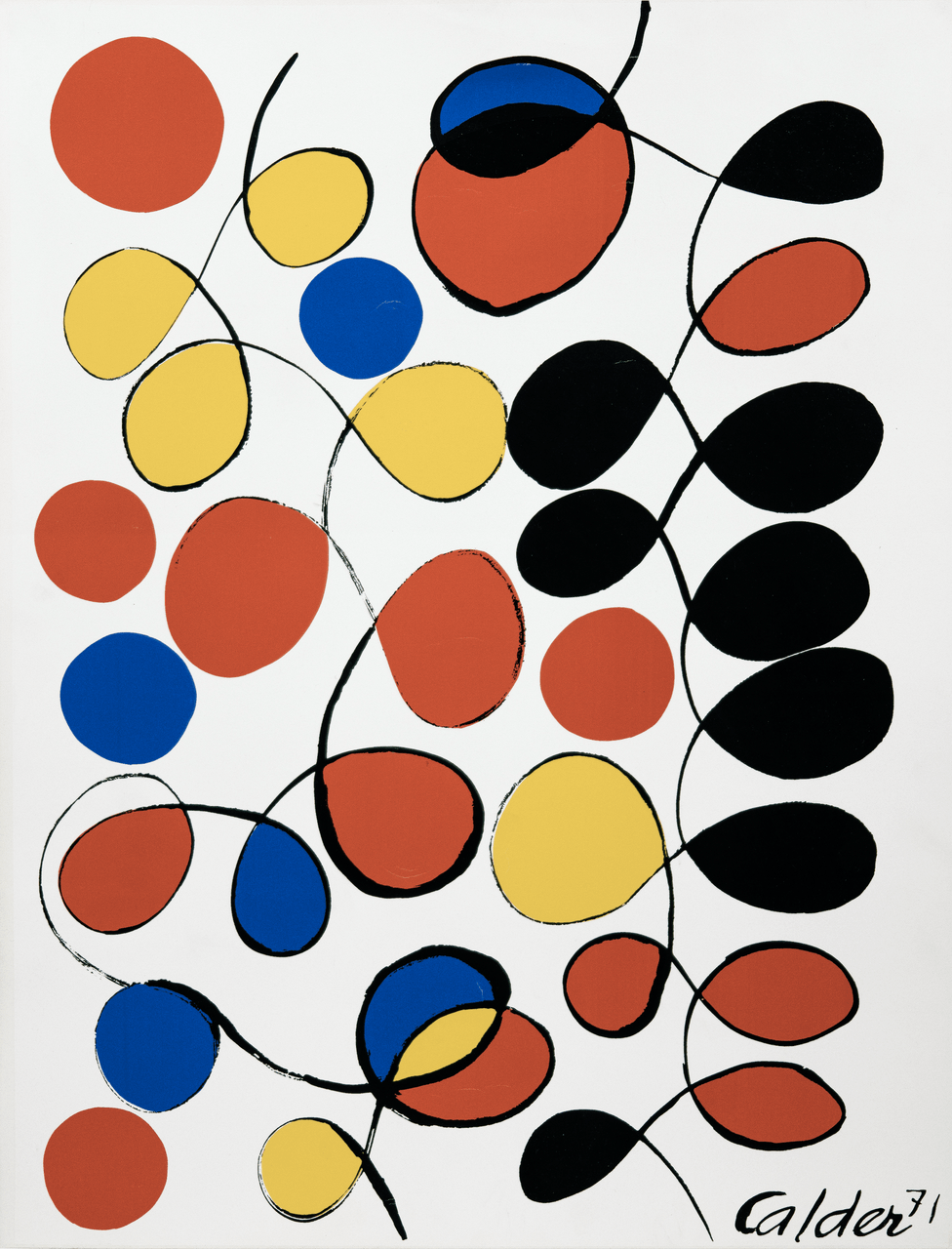 An Alexander Calder 71' Abstract Serigraph