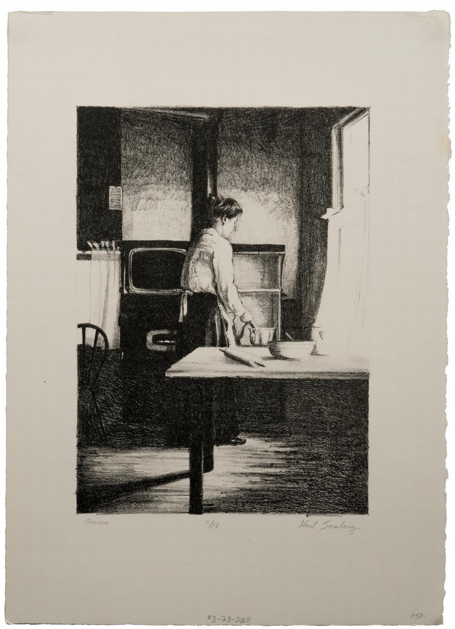 """Kurt Seaburg Lithograph """"Anna"""""""