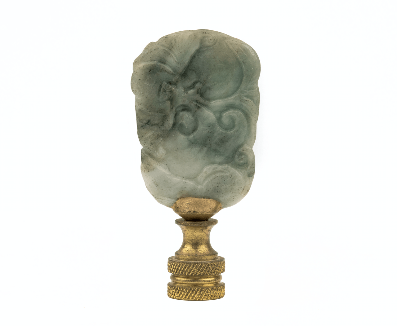 An Antique Chinese Jade Pendant Lamp Finial
