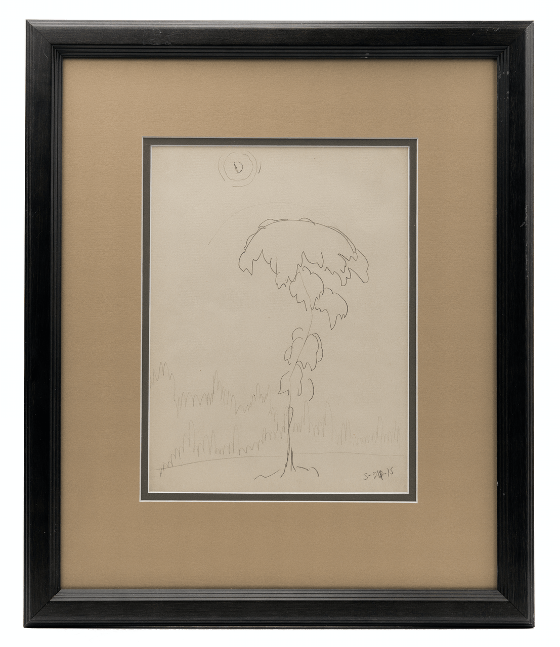 An Original Drawing By Charles E. Burchfield  1893-1967 A Tree Study Dated 1915