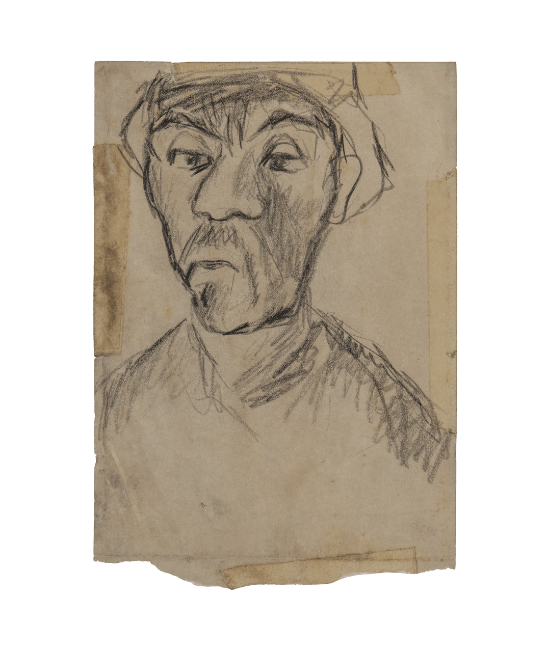 An American Early 20th Century Profile Portrait Sketch