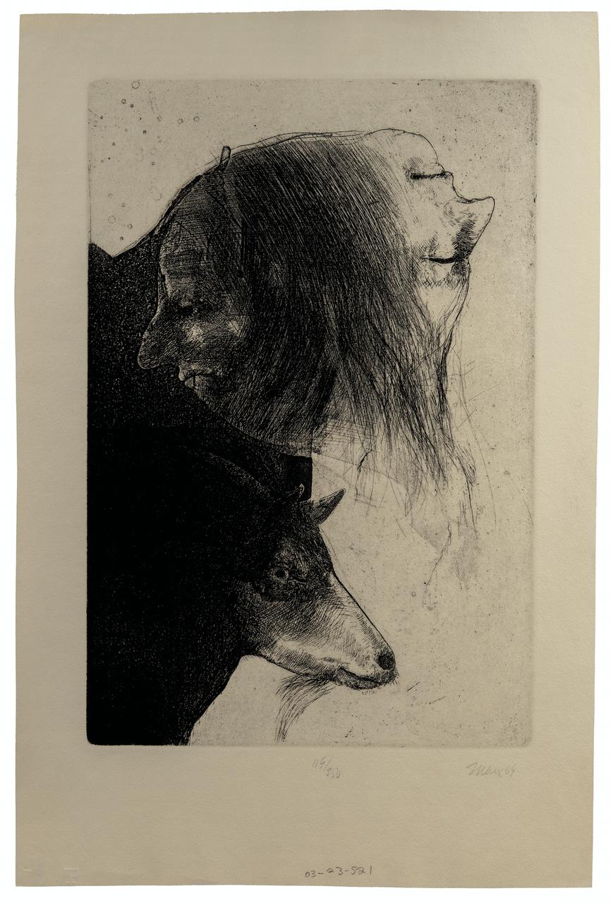 A Robert Ernst Marx Vintage Etching Intaglio Print Dated 65