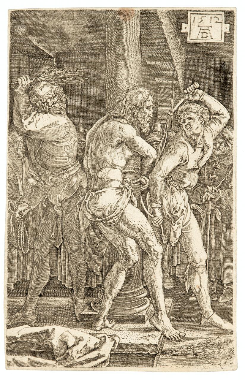 An Albrect Durer Ething 1512,The Flagellation of Christ