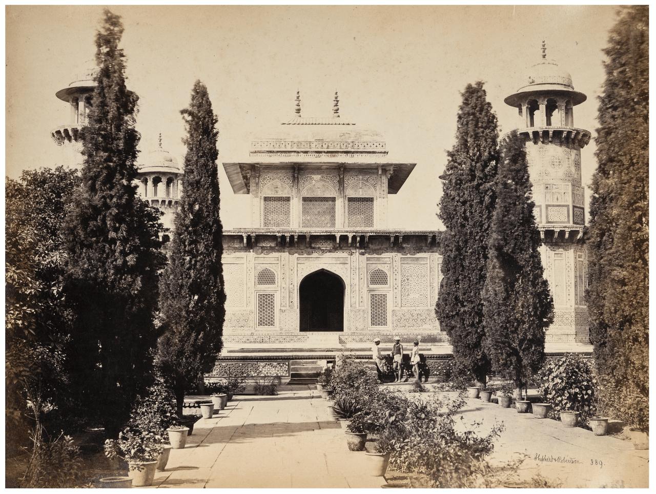 An Antique Albumen Print Photograph Of An Indian Mausoleum By Shepard & Robertson