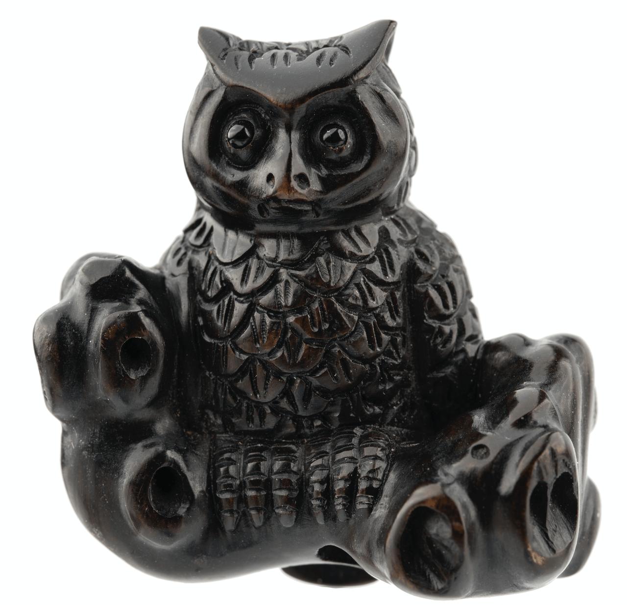 A Meiji Era Japanese Signed Netsuke of An Owl