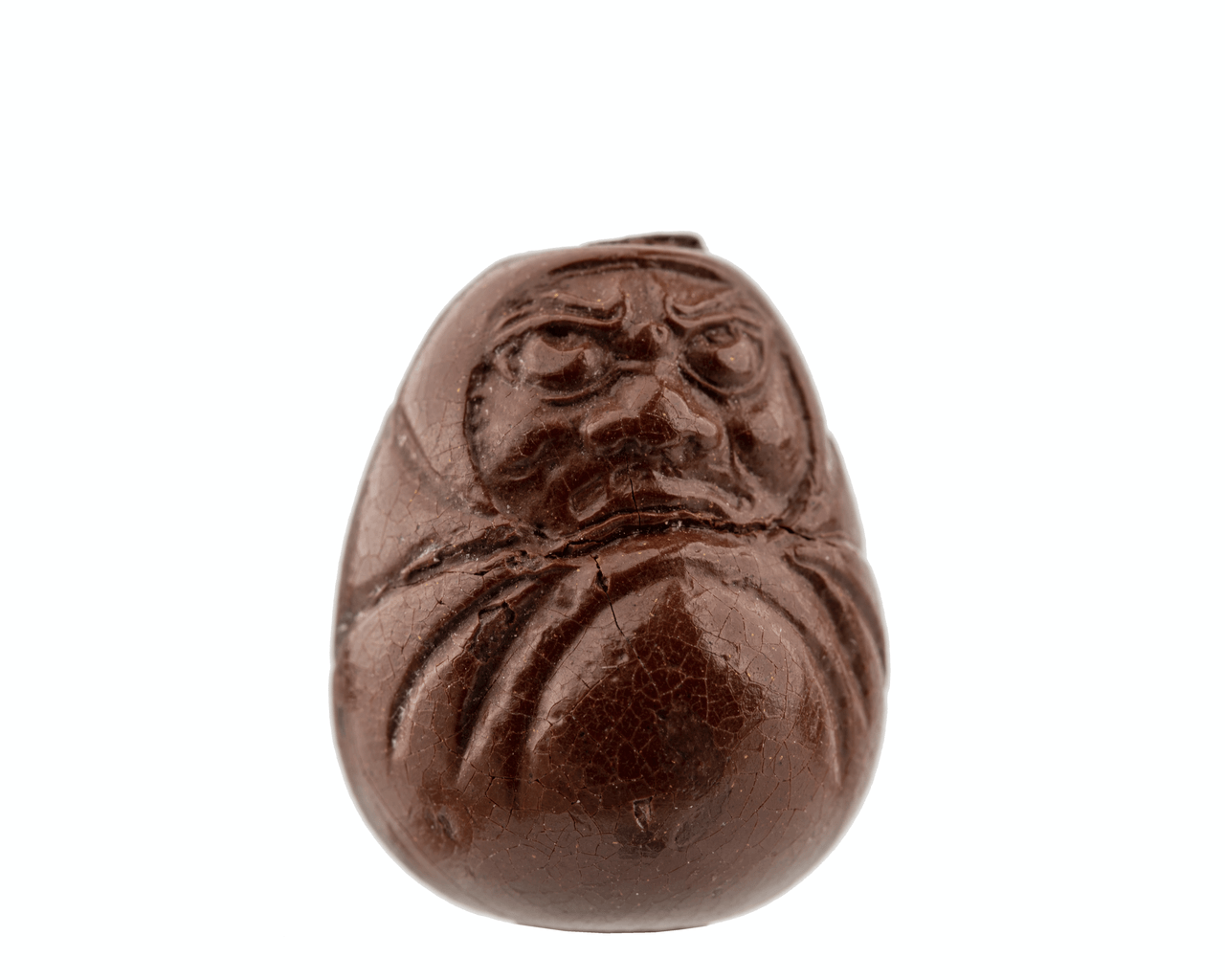 A 19th Century Molded Lacquered Japanese Ojime Bead Of Daruma