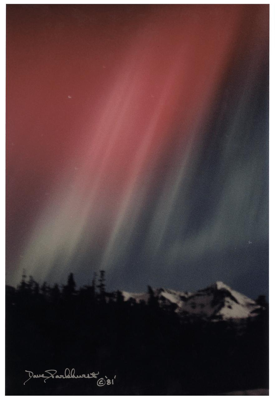 "Dave Parkhurst ""Aurora Borealis"" Vintage Photograph Of Alaska"