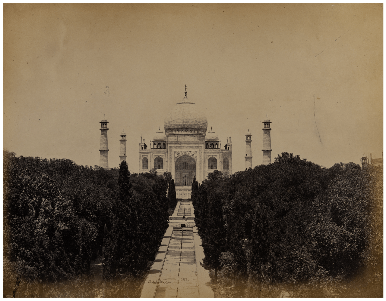 A 19th Century Albumen Photograph Of The Taj Mahal, India By Shepherd & Robertson