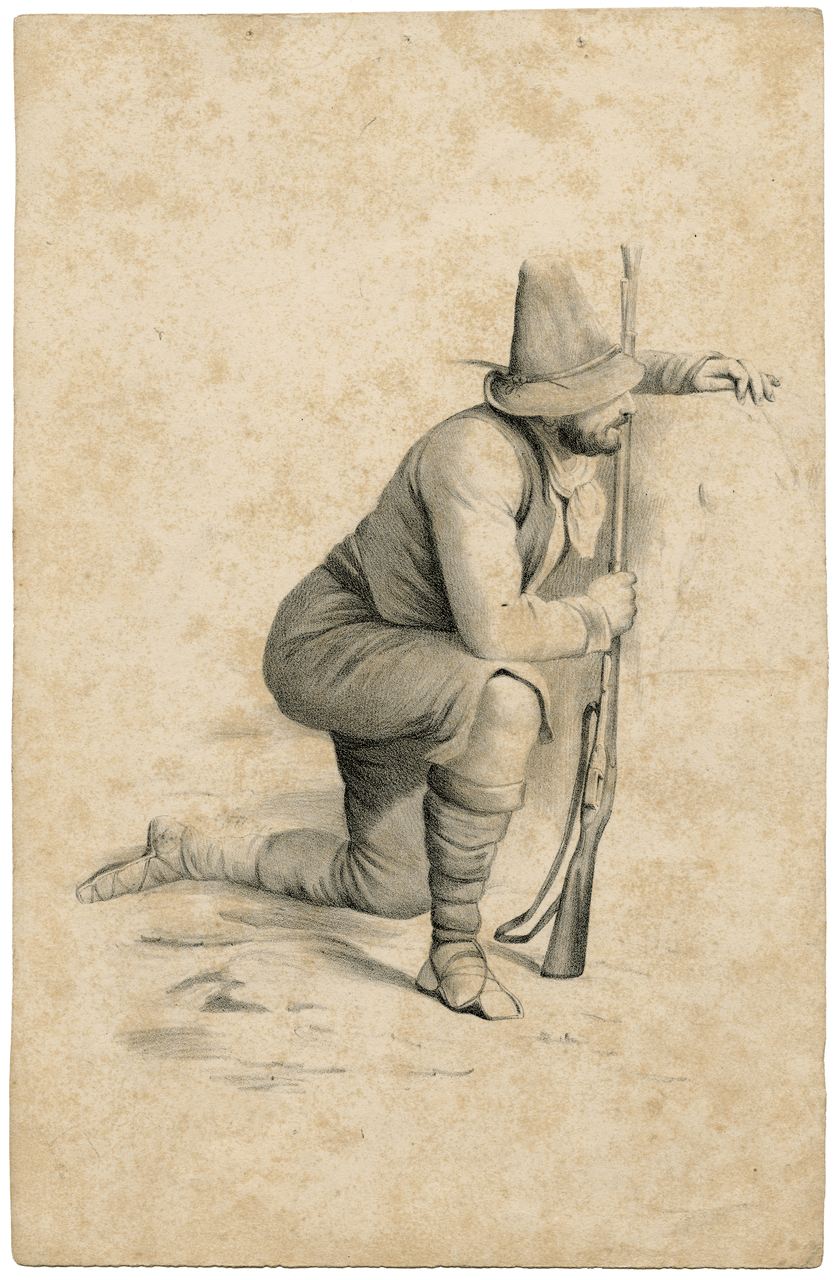 An Early 19th Century English Drawing Of A Hunter