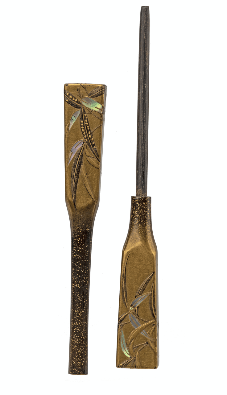 An Antique 19th Century Meiji Era Japanese Lacquerware Hair Pin
