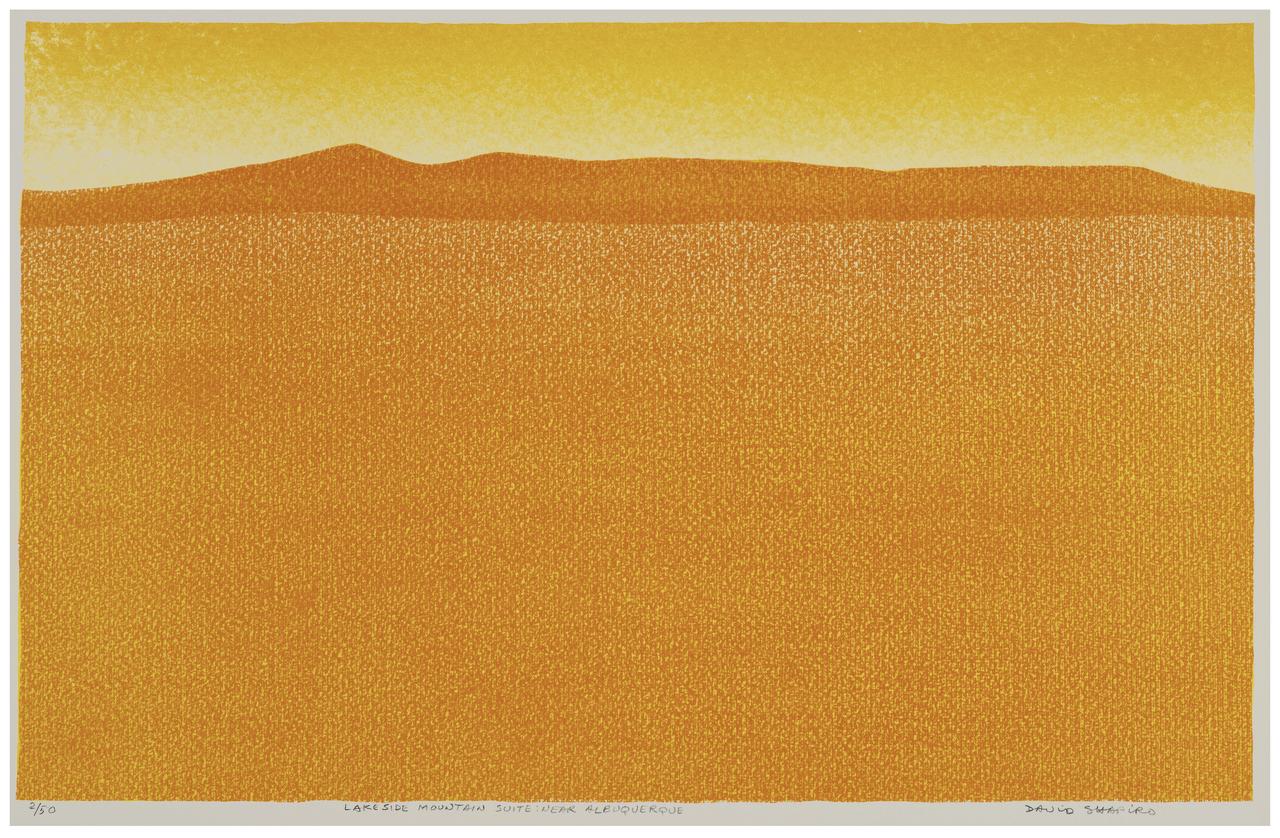 "A Vintage Lithograph Print Signed David Shapiro ""Lakeside Mountain Suite"""